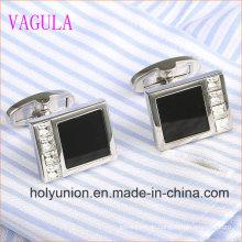 VAGULA Designer Herren Französisch Hemd Onyx Silber Manschettenknöpfe 336