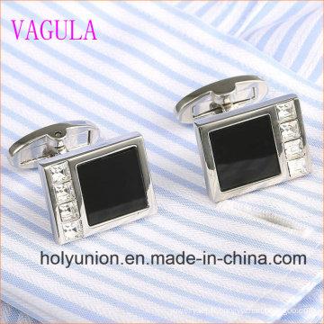 VAGULA Designer Homme Français Chemise Onyx Silver Cufflinks 336