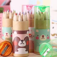 Mini sacapuntas caliente de los niños vendedores con el mini lápiz del color