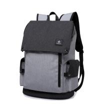 Stylischer Smart Waterproof Schulrucksack mit USB-Ladegerät