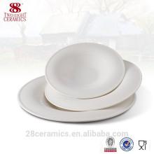 Vajilla blanca de la porcelana de hueso real al por mayor, placas de cerámica baratas