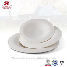 Wholesale royal bone china white dinner ware, cheap ceramic plates