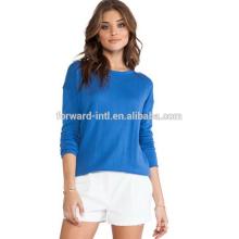Европейские женщины пуловер свитер дамы вязаный пуловер свитера