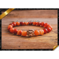 Pulseras de la ágata del rojo de la alta calidad, pulsera de la cornalina de la joyería para los mejores amigos (CB062)