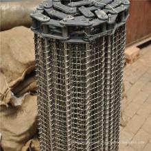 Correia transportadora de malha de arame de aço inoxidável de transporte de alimentos