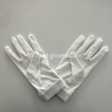 Gants de parade blancs Gripper Dot