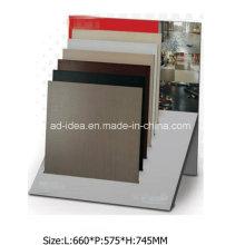 Простой дизайн ИСО дисплея металла для мрамора, выставка гранитная плитка
