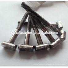 half thread steel T-shaped bolt