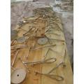 Loja comercial Shopping marca sapatos roupa dourada Display Racks prateleira de aço inoxidável