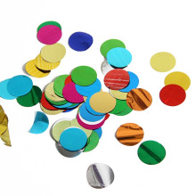 Confeti Mylar multicolor de forma redonda de 2,5 cm para la fiesta de Navidad