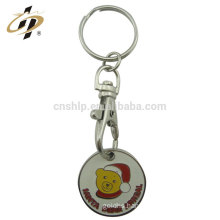 Free sample cheap enamel zinc alloy custom trolley token coins