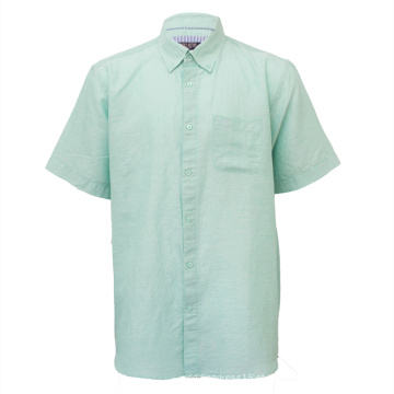 Camisas casuais de manga curta masculina tamanho atacado