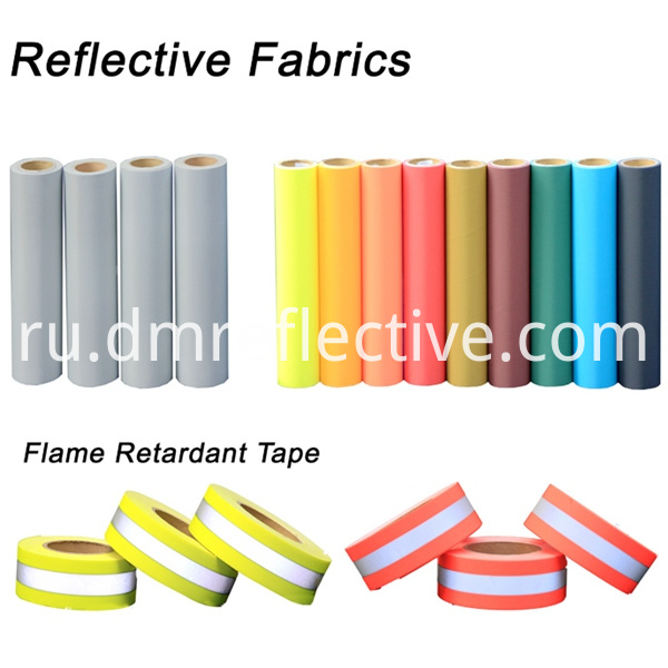 Fluorescent Yellow FR WarningReflective Fabric