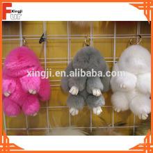 Lovely Rabbit Shape Rex Rabbit Fur Keychain