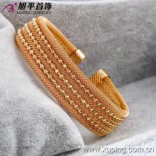 Мода Большой Широкий Роскошный 18k Золотой Браслет