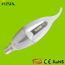 Candelabros de cristal aplicación 3000k E14 vela Base con forma de bombillas de luz