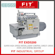 Direct-Driven Overlock Sewing Machine with Super High Speed Intellgent Control (FIT EXD5200)