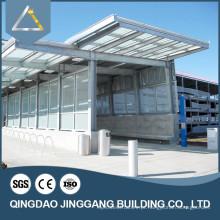 Estrutura de aço Fabricação de estacionamento Fabricação Canopy Design