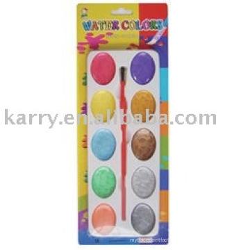 cor de água metálica de dezesseis cores (úmido-seco)