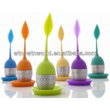 Filtro / infusor coloridos modernos perfectos del té del silicón