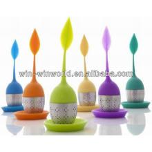 Filtro colorido moderno perfeito do chá do silicone / filtro / infusor