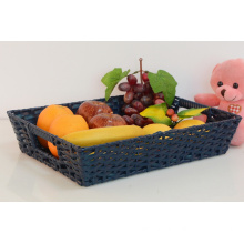 China for Basket Of Fruits,Fruit Gift Baskets,Fruit Basket Manufacturers and Suppliers in China Rectangular Plastic Rattan Fruit Basket supply to Indonesia Factory