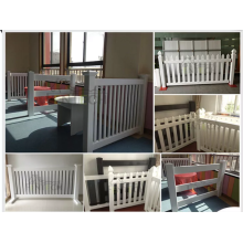 White pvc rolled picket fence for household