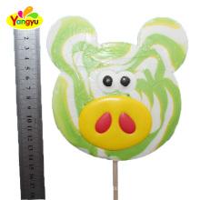 Pig Shape Fruit Flavor Candy Lollipop Big Lollipop Candy