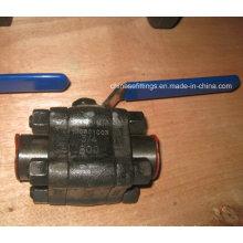 Manija del palanca de la manija A105n Válvula de bola roscada hecha a mano del acero forjado