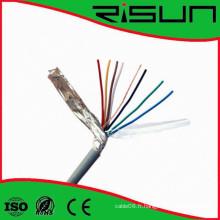 Câble d'alarme de sécurité blindé 4/6 / noyaux avec Ce / RoHS / ISO9001