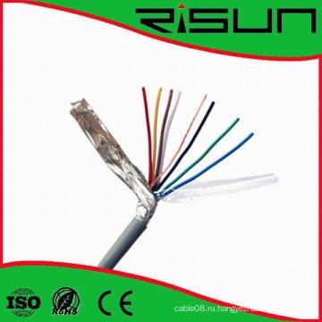 Экранированный безопасности 4/6/ ядер кабель сигнала тревоги с CE/утверждение RoHS/ISO9001 и