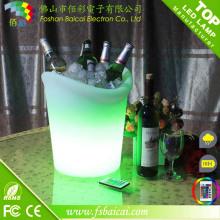 Cubeta de gelo da cerveja do diodo emissor de luz / cubeta de gelo impermeável do PE