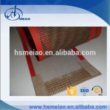 Good permeability Teflon coated fiberglass mesh conveyor belt