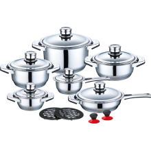 Cookware de aço inoxidável de 16 partes no preço de fábrica