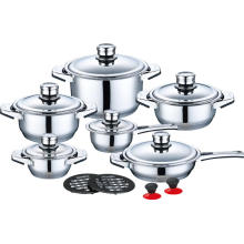 16 Pieces Stainless Steel Cookware in Factory Price