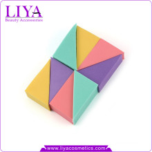 Free sampels colorful soft cosmetics products make up sponge triangle