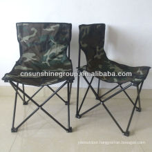 Armless camo folding chair for hiking