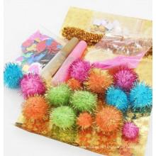 Venda por atacado decorativo Glitter pom pom kids kids cola DIY kit