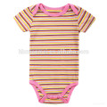 Hot sale butterfly flower stripe baby wear infant clothes organic breathable cotton red baby jumpsuit romper