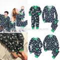 Китай поставщик мода одежда оптом хлопка для взрослых рождественские пижамы в сплошной цвет