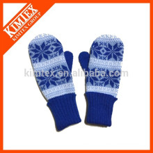 Wholesale winter acrylic knit mittens