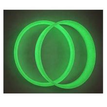OEM Luminous Rubber Silicone Bracelets Customized Wristband