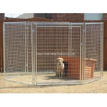 Großer geschweißter Hund-Zwinger / Hundekäfige für Verkauf / Rost geschützter verzinkter Stahlhundekäfig Großer preiswerter Hundekäfig