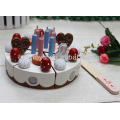 Happy birthday wooden toy cake set