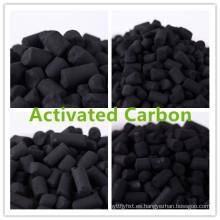 Impregnated koh carbón activado