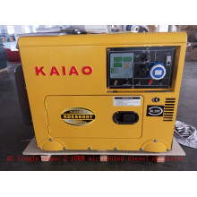AC Single Phase 60Hz / 6kw Бесшумный резервный дизельный генератор