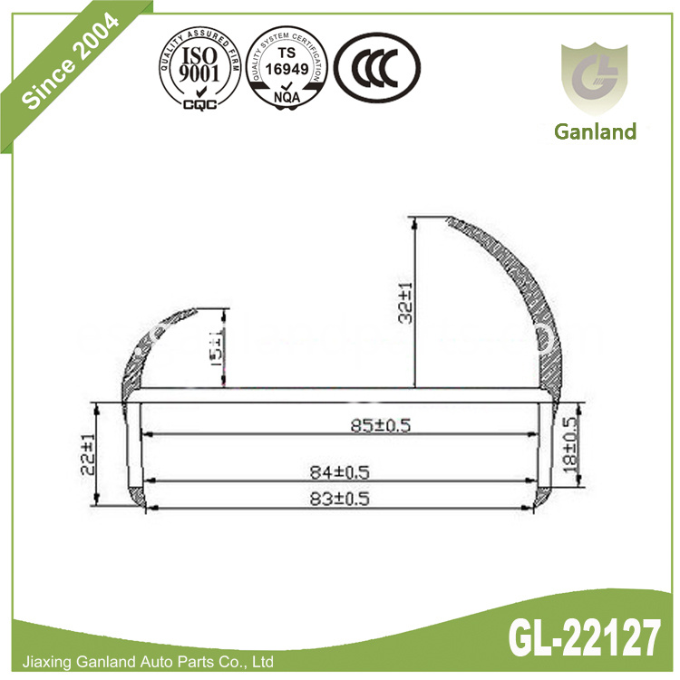 PVC H channel Seal GL-22127