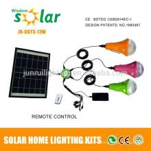 CE y patente recargable solar-led iluminación de emergencia camping bombillas de LED (JR-SL988A)