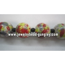 White red and grey color ball shape ceramic beads