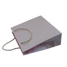 Bolsa personalizada bolsa de papel rosa de lujo